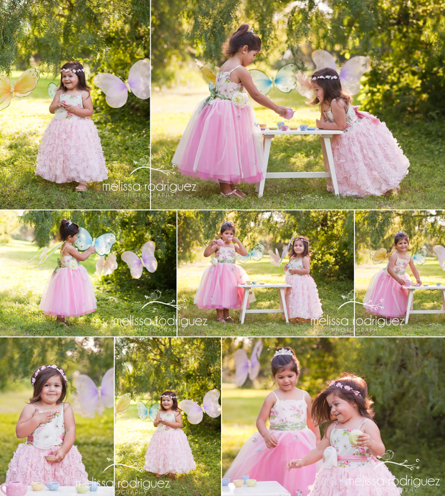 Melissa Rodriguez Photography Rio Grande Valley childrens photographer tea party whimsical outdoor portraits
